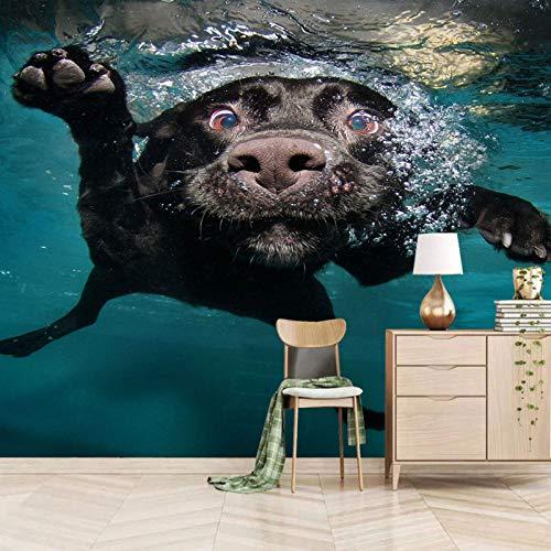 MZCYL Wallpaper for Bedroom 3D 430x300cm Ozean Hund Tier selbstklebend Wandbild Wand Abnehmbare Tapete 3D Effekt Aufkleber 3D wandbilder Wohnzimmer Schlafzimmer Fenster Küche Flur Dekoration