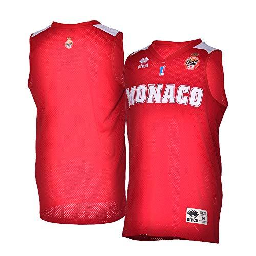 AS Monaco Basket AS - Camiseta Oficial para Exteriores 2018-2019 de Baloncesto Infantil, Niño, Color Rojo, tamaño FR : XS (Taille Fabricant : 14 ANS)