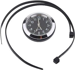 Relógio com mostrador Baoblaze Temp Termômetro Higrômetro para guidão 22 mm 25 mm - Relógio - Preto