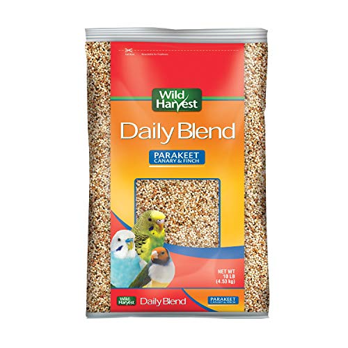 Wild Harvest Daily Blend Nutrition Diet for Parakeet, Canary and Finch 10 Pounds