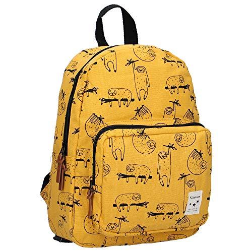 Kidzroom Kinderrucksack Animal Academy - Faultier - Gelb