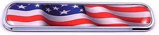 USA American Flag Chrome Emblem 3D auto Decal Sticker car Bike Boat 5.3