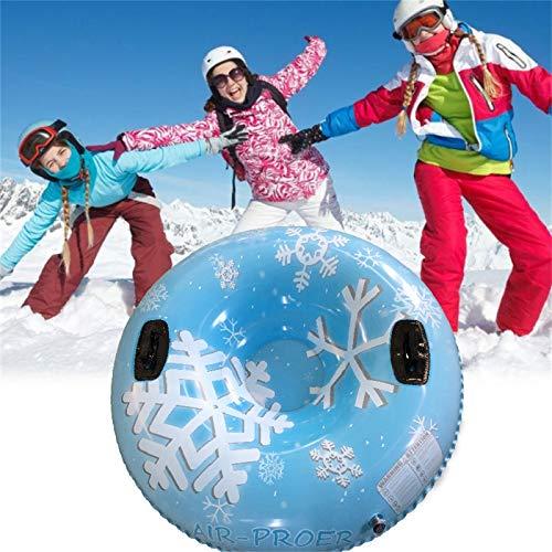 ZKB Aufblasbare Schlitten für Erwachsene,Kinder Snow Tube Reifen Verdicken Kälteschutz Schwerlast,Schneereifen Rodelreifen mit Sicherheit Griffen (Mehrfarbig 4)