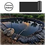 LJIANW PVC Teichfolie, Fischteichfolie Verdicken HDPE 0,6 Mm Anti-Versickerung Geotextil Zum Fluss Reservoir Gartenbrunnen, (Color : Black, Size : 1.5x3m)