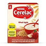 Nestlé CERELAC Baby Cereal with Milk, Wheat Apple – From 6 Months, 300g BIB Pack