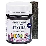 Decola | Colori per Tessuti permanenti | Colori Glitter | Colore Nero | Vernice Tessuti | atossici e Resistenti ai lavaggi | Pittura per Tessuti permanenti | da Neva Palette