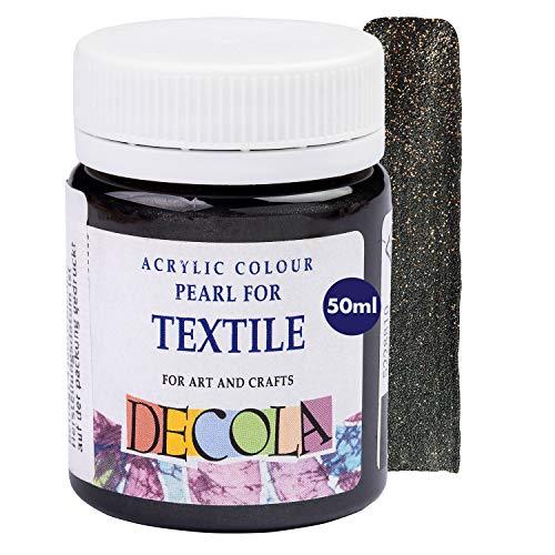 Decola   Colori per Tessuti permanenti   Colori Glitter   Colore Nero   Vernice Tessuti   atossici e Resistenti ai lavaggi   Pittura per Tessuti permanenti   da Neva Palette