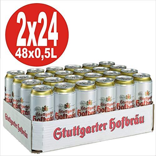 2 x 24x0,5L = 48 Dosen Stuttgarter Hofbräu Pilsner 4,9% Vol. EINWEG