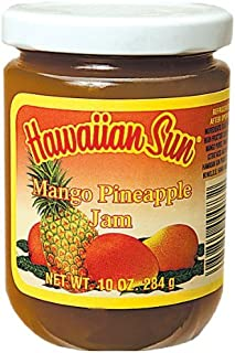 MANGO - PINEAPPLE JAM, Hawaiian Sun Brand, 10-Ounce Jars (Pack of 4)