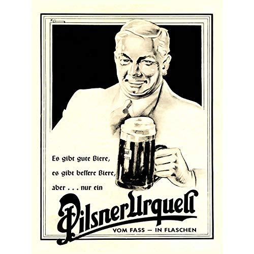 Wee Blue Coo Prints Advertising Drink Alcohol Beer ALE Lager URQUELL Germany 30x40 cms Art Poster Print Picture Werbung Getränk Alkohol Bier Deutsche Bild