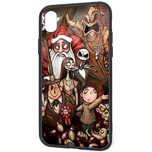 DZCP-y Lustige Design-Fall für iPhone XR, Jack und Sally Wallpaper Halloween-Party-Kunstdrucke Pretty Slim Cover Case
