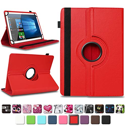 NAmobile Tasche für Vodafone Tab Prime 6/7 Tablet Hülle Schutzhülle Hülle Farbwahl Cover, Farben:Rot