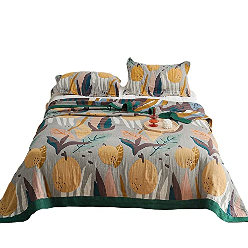 KLily Manta De Toalla Impresa Qué Tipo De Patrón Hogar Sofá Dormitorio Manta De Siesta Manta De Aire Acondicionado del Coche Material De Algodón Lavado