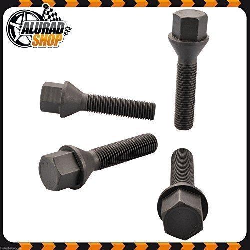 Haskyy 10 Radschrauben Radbolzen SCHWARZ Kegelbund Kegel M12x1,5 in verschiedenen Schaftlängen zur Auswahl (36mm)