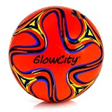 GlowCity Light Up LED Soccer Ball-Size 5 Swirl Edition Edition Glows in The Dark with Hi-Bright LED's