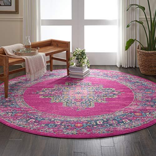 Eine Marke von Amazon - Movian Vacha - Runder Teppich, 243,8x243,8cm, Geometrisches Muster