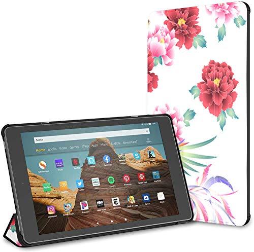 Custodia pieghevole ultra sottile compatibile con tablet Amazon Fire HD 10 da 10,1 pollici (nona settima generazione, versione 2019 2017), cover con riattivazione automatica sonno cinese Phoenix