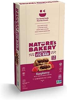 Nature's Bakery Gluten Free Fig Bars, Raspberry, 1- 12 Count Box of 2 oz Twin Packs (12 Packs), Vegan Snacks, Non-GMO