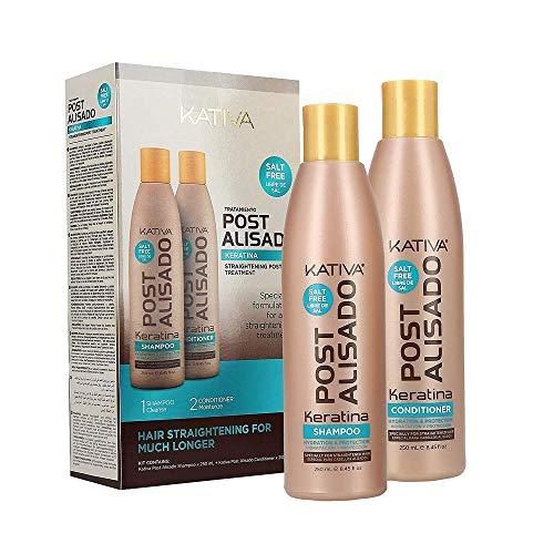 Kativa postalisado–Kit ohne Salz–Pakete von 2Flaschen x 250ml–Total: Shampoo und Spülung 500ml