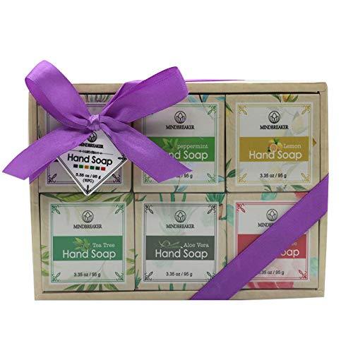 Handgemachtes Seifen stück-Geschenk-Set des ätherischen Öls, natürliche organische Bestandteile (6 PCS)