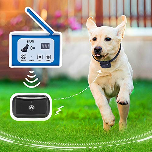 Wireless Dog Fence Electric Pet Containment System Rechargeable Waterproof Wireless Collar...