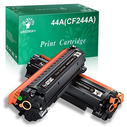 GREENSKY 44A Kompatibler Toner Kartuschen Ersatz für HP CF244A 44A für HP Laserjet Pro MFP M28a MFP M28w M15a M15w Drucker (2 Schwarz)