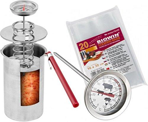 PRESSURE HAM COOKER 1,5KG Cookers Boiler Meat Pot Pan RVS Keuken
