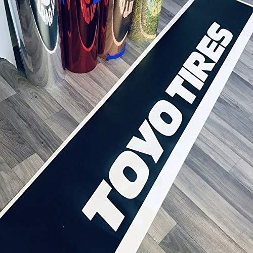 myrockshirt Toyo Tires + Blendstreifen ca 130 cm Aufkleber,Sticker,Decal,Autoaufkleber,UV&Waschanlagenfest,Profi-Qualität