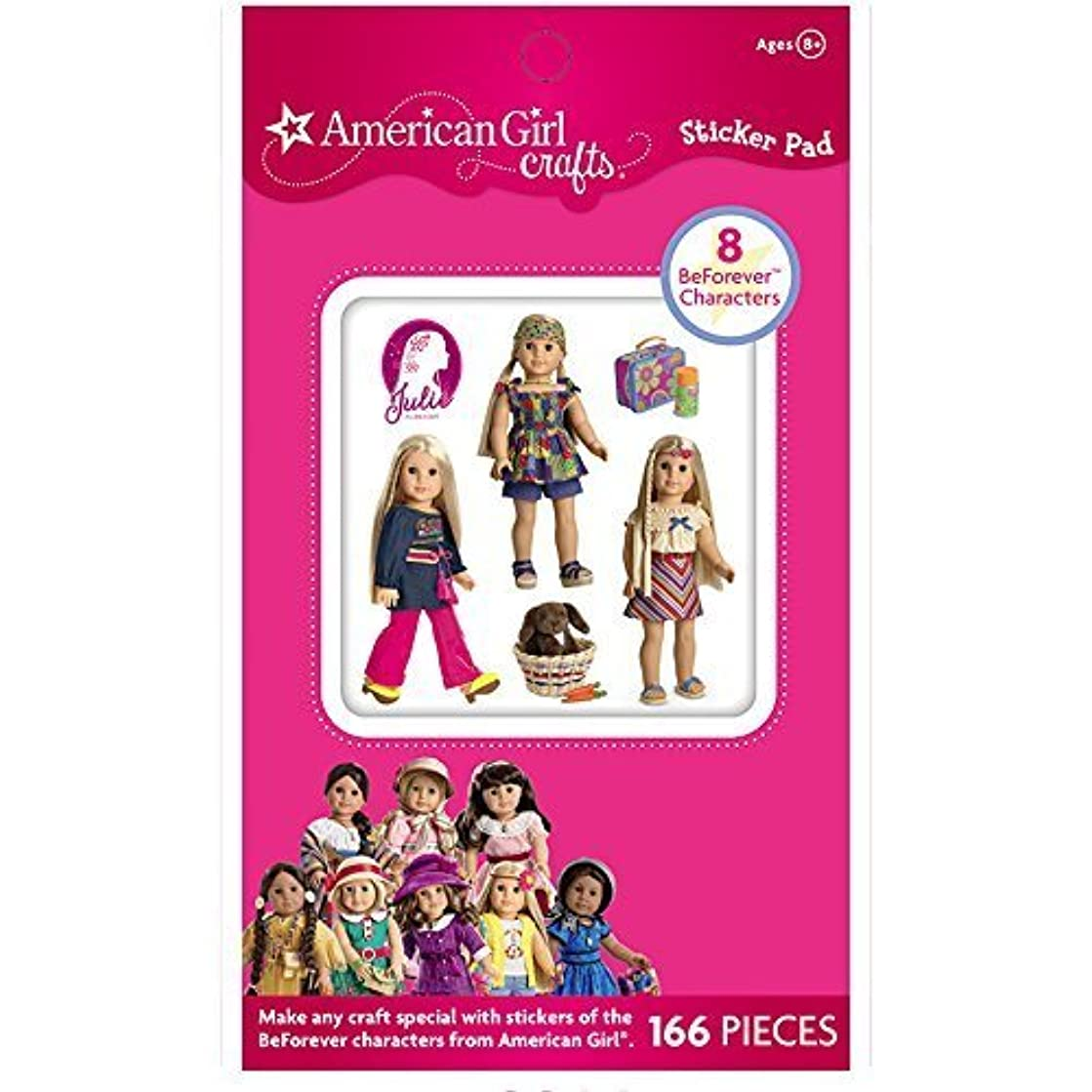 American Girl Crafts Vintage Fashion Dolls Stickers for Girls, 166pc