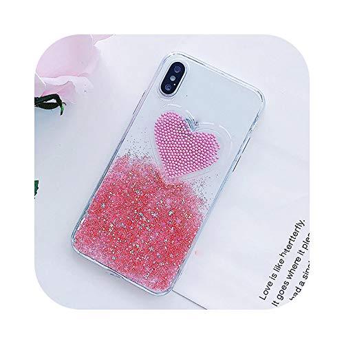 Friendshiy Schutzhülle für iPhone 11, für Person, Pillen, süße 3D-Kapseln, für iPhone 11 Pro XS XR XS Max X 8 7 6 6S Plus, TPU, weich, transparent, Gradient Heart Pink für Samsung S9