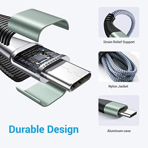 USB Typ C Kabel [0.5M+1.2M+2M] USB C Ladekabel für Samsung S10 S10e S9 S8 Plus Note 10 9 8 A3 A5 2017 LG G5 G6 HTC 10 U11, Huawei P10 P9 [3 Stück]