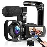 Video Camera Camcorder for Vlogging, 36MP...