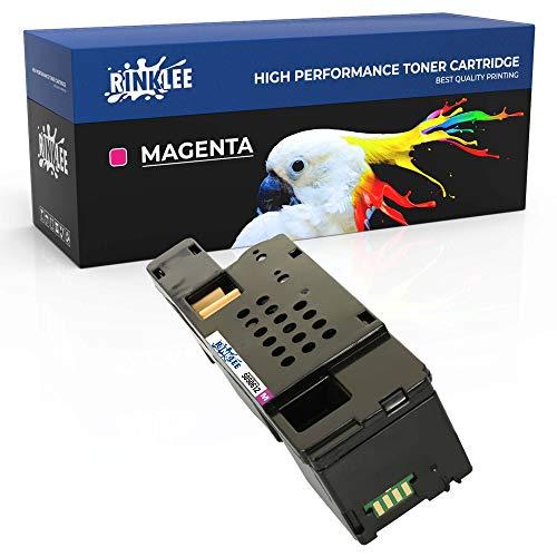 RINKLEE C13S050612 Cartucho de Toner Compatible para Epson AcuLaser C1750N C1750W CX17NF CX17WF C1700 C1750 CX17 | Alta Capacidad 1400 Páginas | Magenta