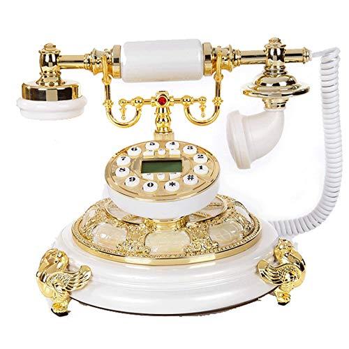 LDDZB Teléfono Fijo Retro nostálgico Multifuncional Viejo de Moda con Cable de Escritorio con Cable de Escritorio y telefono de la Oficina Decoración de la Sala de Estar del hogar