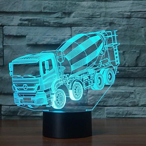 Licuadora De Ilusión Led 3D Modelo De Coche Luz De Noche Led 7 Colores Lámpara De Mesa Intermitente Para Niños Regalos De Novedad Luces Decoraciones De Habitación