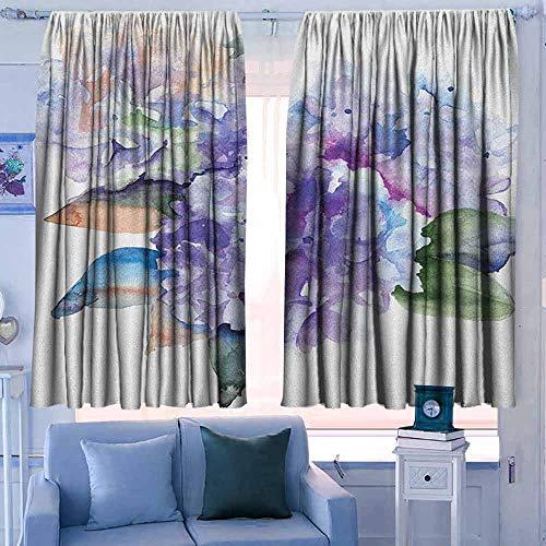 Lovii verduisterende gordijnen staaf zak gordijn panelen voor slaapkamer & keuken aquarel kleurrijke insecten met penseel streken effect verschillende soorten Bugs Illustratie Multi kleuren