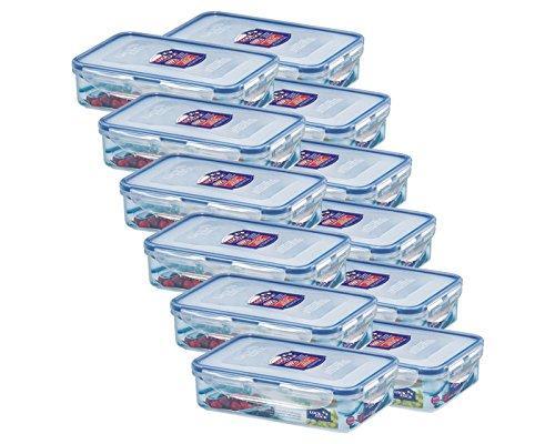 Lock&Lock Frischhaltebox Kühlschrankdose Frischhaltedose 800ml, luftdicht, HPL816T - 12er Set