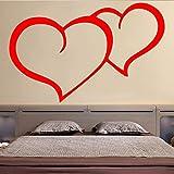 zzlfn3lv Amoroso patrón de corazón Etiqueta de la Pared para el Dormitorio decoración Accesorios Vinilo Impermeable...