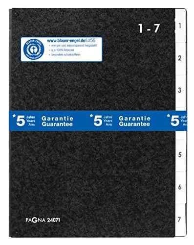 Pagna Pultordner Classic (Pultmappe, 7 Fächer, 1-7) schwarz