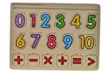 Item- Puzzle Madera Encaje Números, 30 x 20 cm (JE-145213)