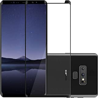 Galaxy Note 9 Screen Protector, Vrchne Dot Matrix 3D Curved Tempered Glass Full Coverage, 9H Hardness Clear HD Anti-Bubble Screen Film (2018 New Version)