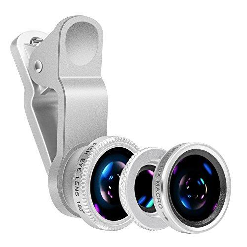 Yarrashop® 3 en 1 Teléfono móvil Kit de Lentes de cámara, Lente Ojo de Pez + Lente...