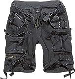 Brandit Salvaje Pantalones Cortos Vintage Pantalones Cortos Vintage Negro - Negro, L