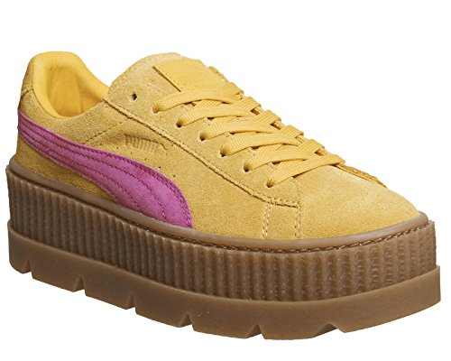 Puma Damen Sneakers Cleated Creeper Suede gelb (31) 39