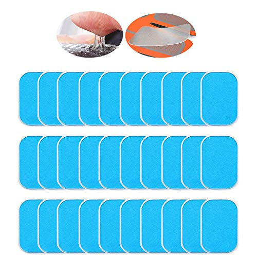 ANLAN Abs Stimulator Gel Pads 30 PCS Replacement Gel Sheets for EMS Muscle Trainer Abdominal Toning Belt Accessories2pcsPacks