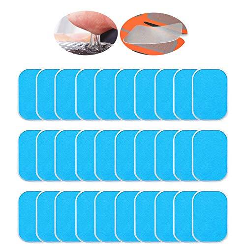 ANLAN EMS Gel Pad, Gel Pad für EMS Muskelstimulator Ersatzteile für Bauchmuskulatur-Geräte/Elektrischer Muskelstimulation/Elektrostimulation/EMS-Training/EMS-Gerät Neue Verpackung 30pcs