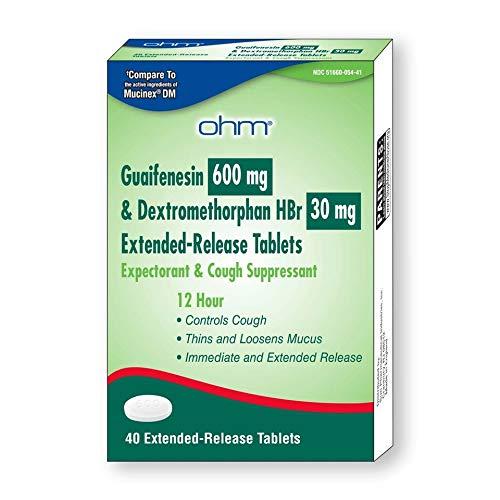OHM Guaifenesin Tablets, 600mg Guaifenesin, 30mg...