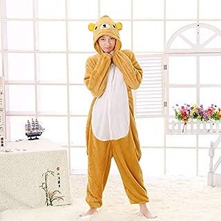 YOYOTOY 1Pc San-X Relax Bear Onesie Adult Men Women Sleepwear Pajama Soft Fancy Anime Pijima Overall Nightwear Onepie U Must Have Gift Baskets Favourite Movie 4T Superhero UNbox Game