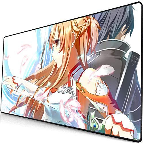 Grande 900X400X3mm XXL Ufficio Mouse Pad Zerbino Gioco Gamer Sword Art Online-2 Gaming Mousepad Tastiera di Calcolo Anime Cuscino Scrivania,per CS Andare LOL Dota