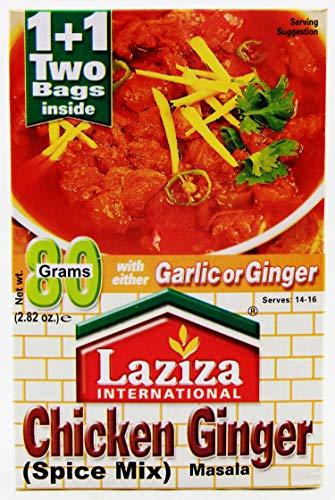 Laziza Chicken Ginger Masala 80 -Gram Boxes (Pack of 6)